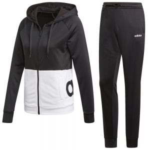 CONJUNTO TRAINING MUJER ADIDAS CON CAPUCHA LINEAR FRENCH TERRY