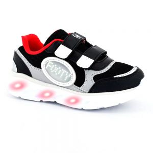 ZAPATILLAS CON LUCES NIÑO FOOTY BUBBLE NEGRA